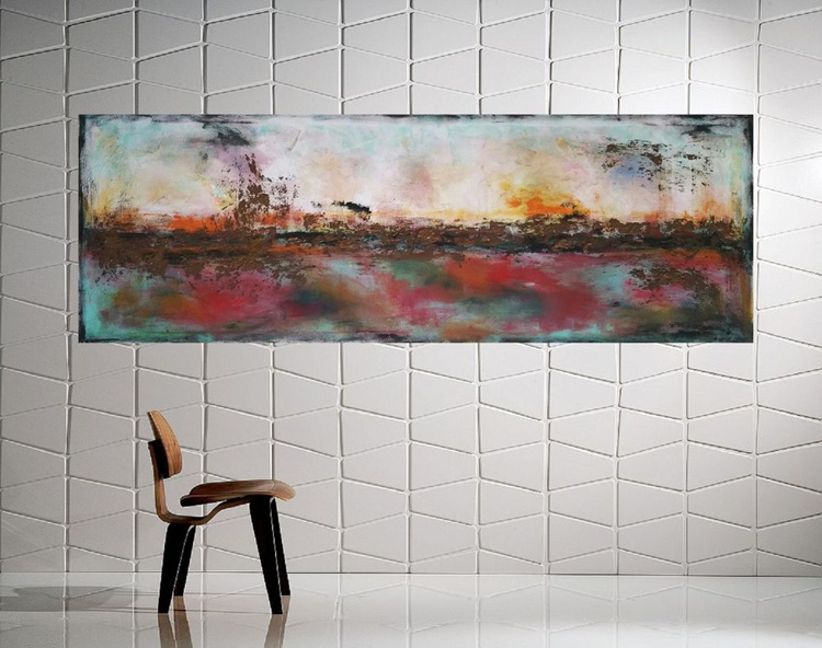 """57x20""""( 145x50cm), Best place in the world 3, Art Painting Abstract Painting, Modern Urban Art Office Art decor Home Decor - Image 0"""