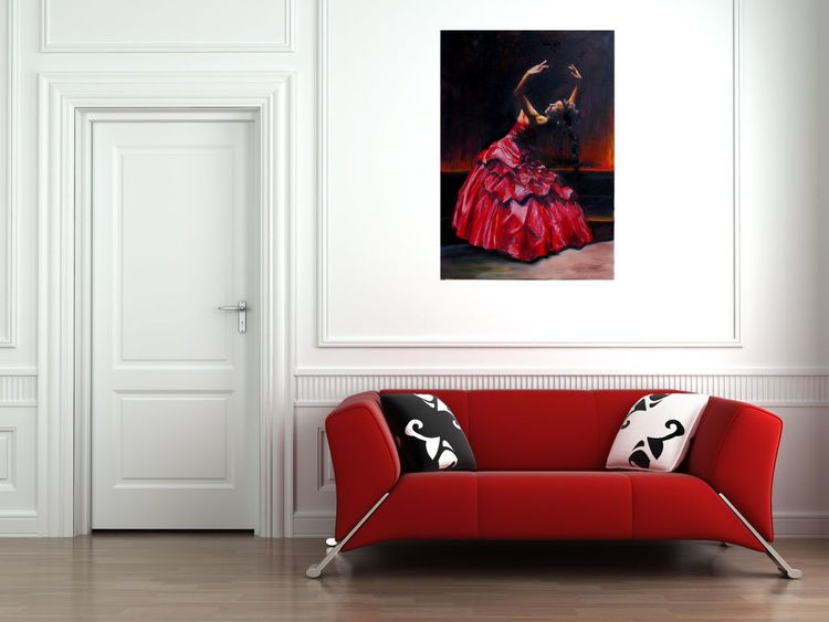 Dancer in a red dress - Image 0