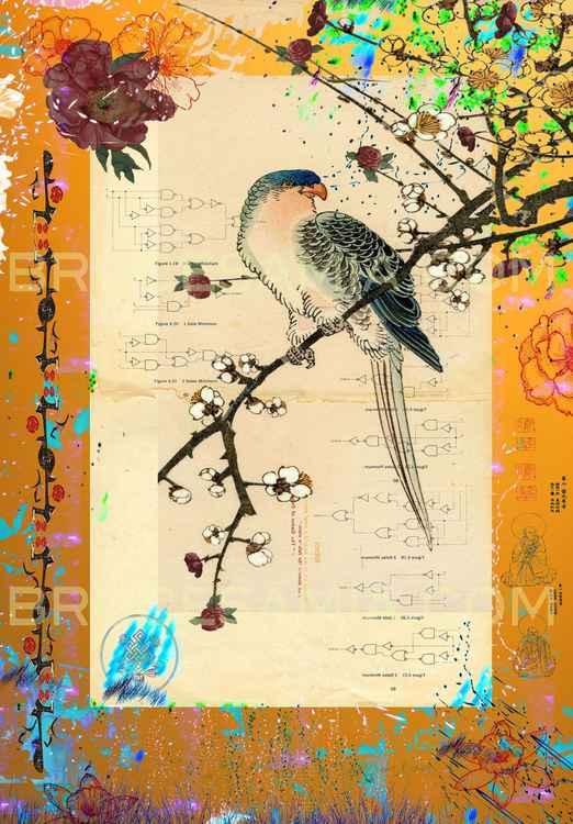 7.  golden collage bird © 16x23 (2014)  ed.50