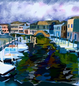 Tuesday Night in Murano by Jennifer Buerkle