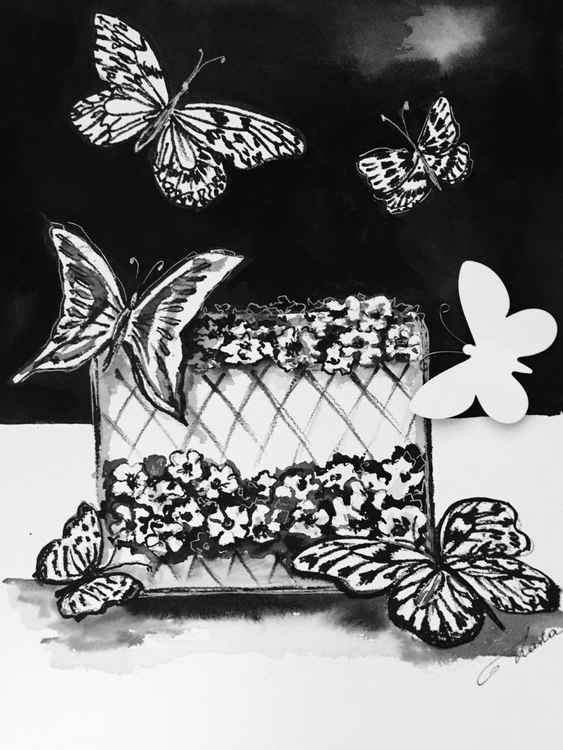 Still Life with Butterflies -