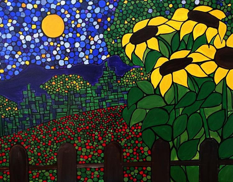 A flower garden - Image 0