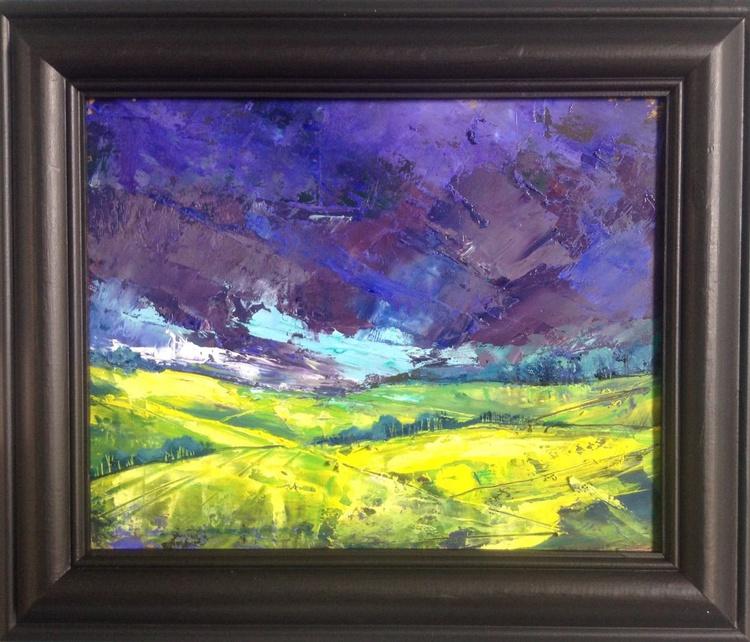 The Golden Valley ( framed original) - Image 0