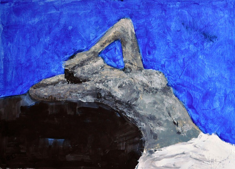 Nude in blue - Image 0
