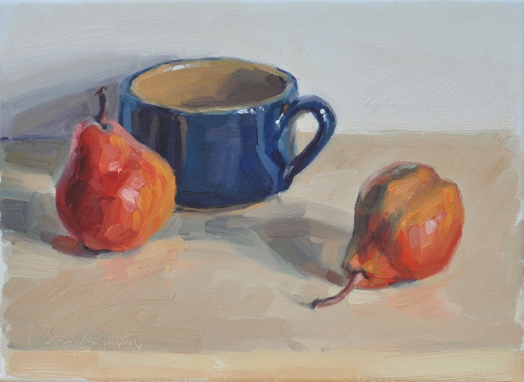 Pears and blue cup - Image 0