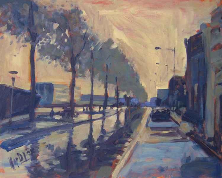 Rain on the Harbour Dike in Tilburg -