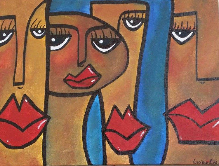 """""""Swingin the Blues"""" - One of a kind Painting - Image 0"""