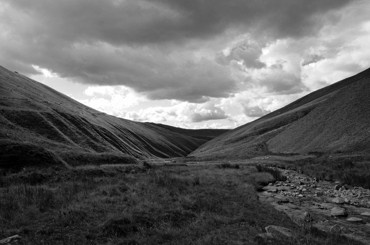 Carlin Gill in Monochrome, Howgill Fells (Unmounted) - Image 0