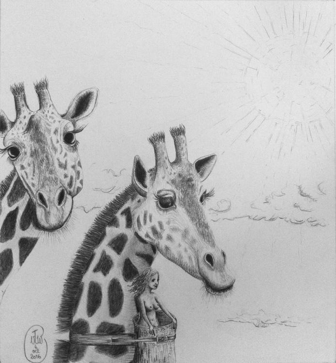 Les Girafes et leur Amie - Image 0