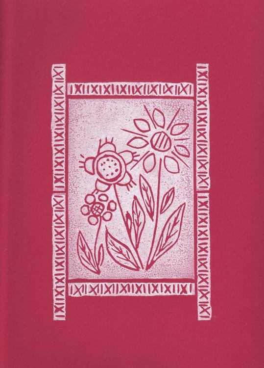 Three flowers with border - Print 4 - Image 0