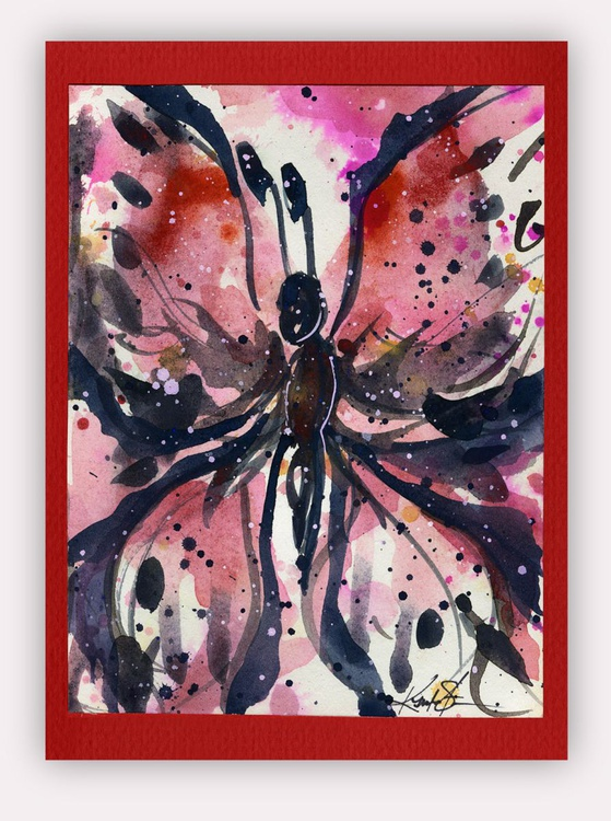 Butterfly Watercolor Painting - Butterfly Delight No. 10 - Image 0