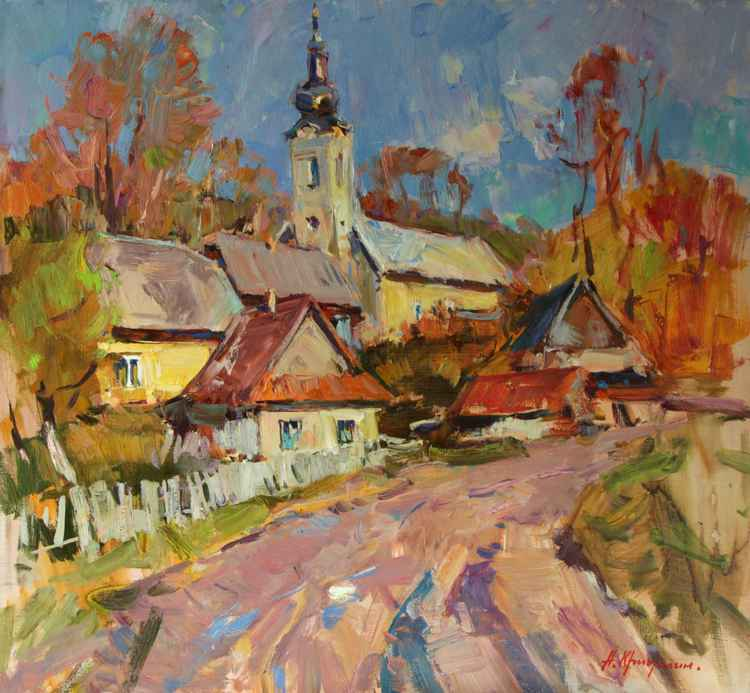 Autumn in the village Studene -