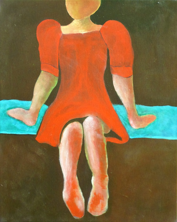 Red Dress 16x20 inches - Image 0