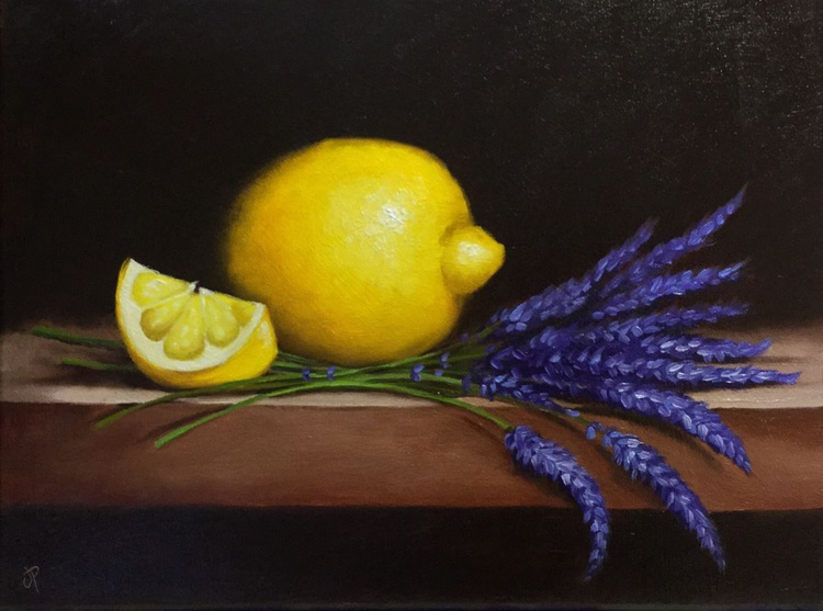Lemons with lavender, ready to hang - Image 0