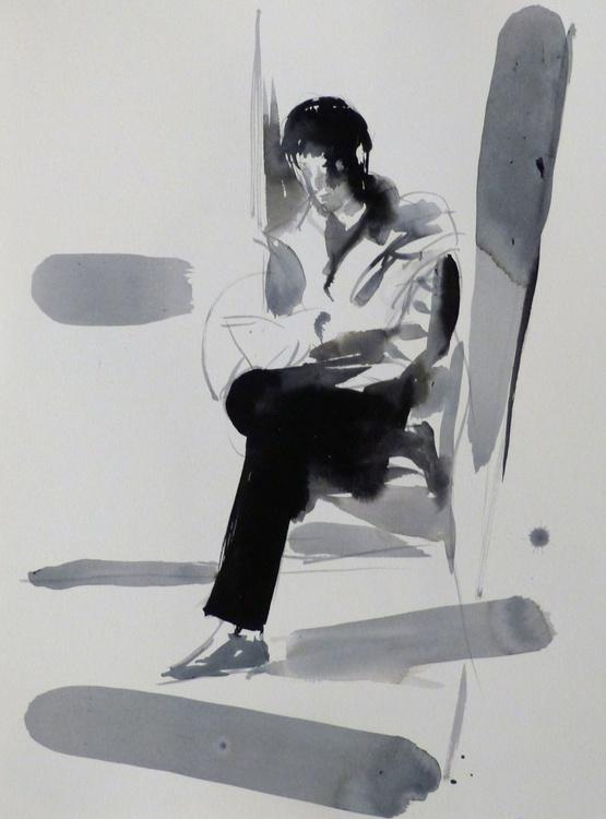 Alice Reading #4, 30x40 cm - Image 0