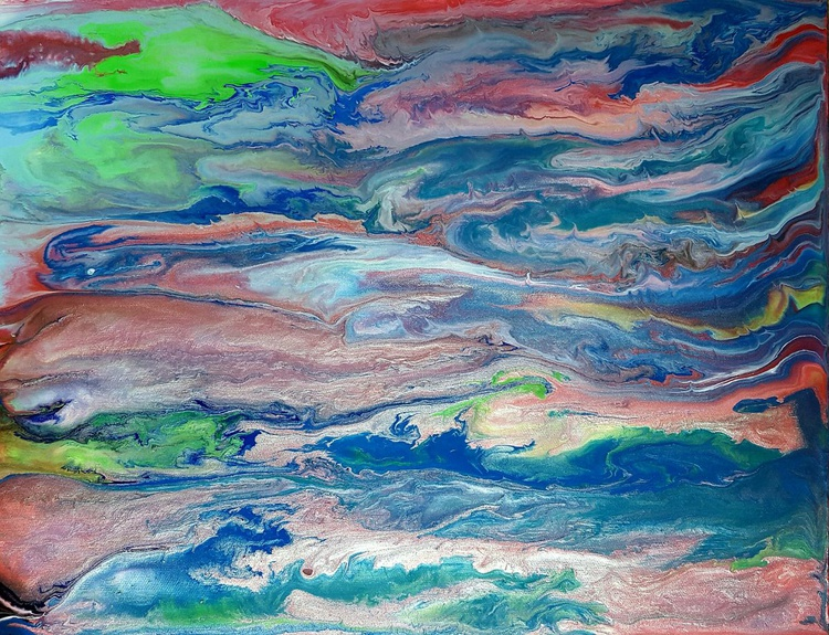 Abstract Iridescent Mother of Pearl - Image 0