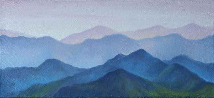 Misty Mountains IV (10x22cm) -