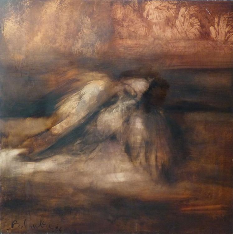 The Dead Bird, oil on canvas 100x100 cm - Image 0