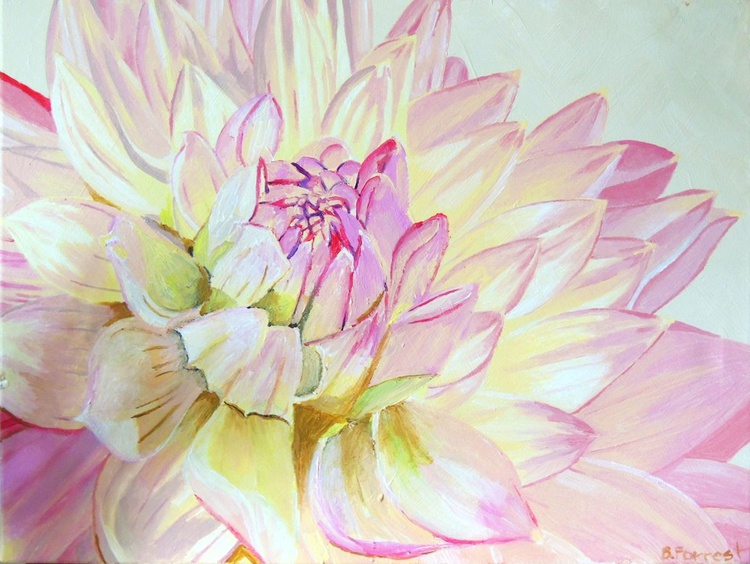 "24"" x 18"" Pink Flower 