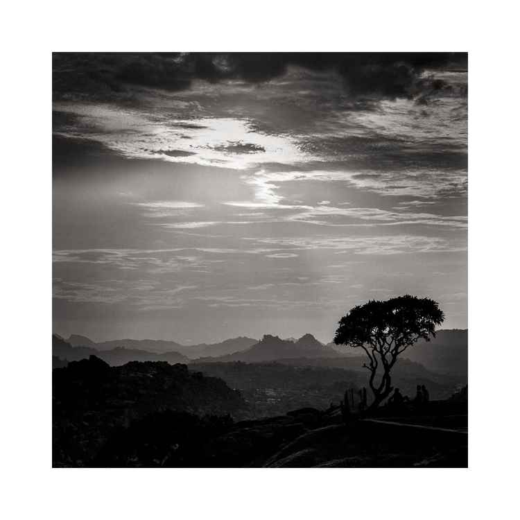 Sunset at Anjana Matha Temple, Hampi, India Study #1 -