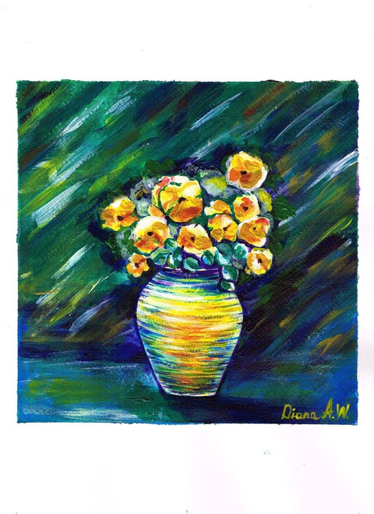 Still Life with yellow flowers - Image 0