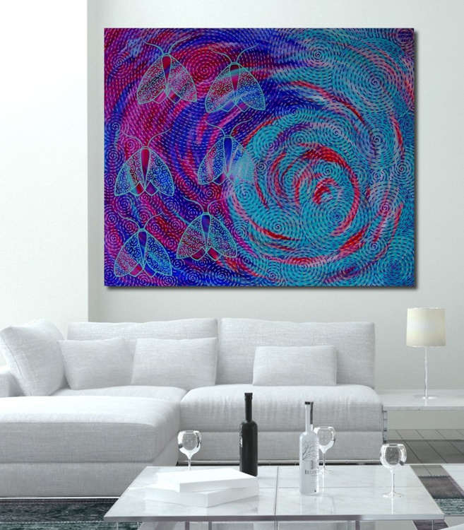 The Night Dream, 120x100cm, Large Abstract - Image 0