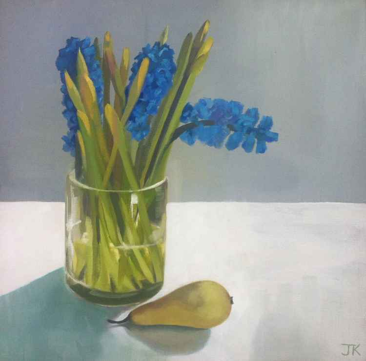 HYACINTHS, DAFFODILS AND PEAR