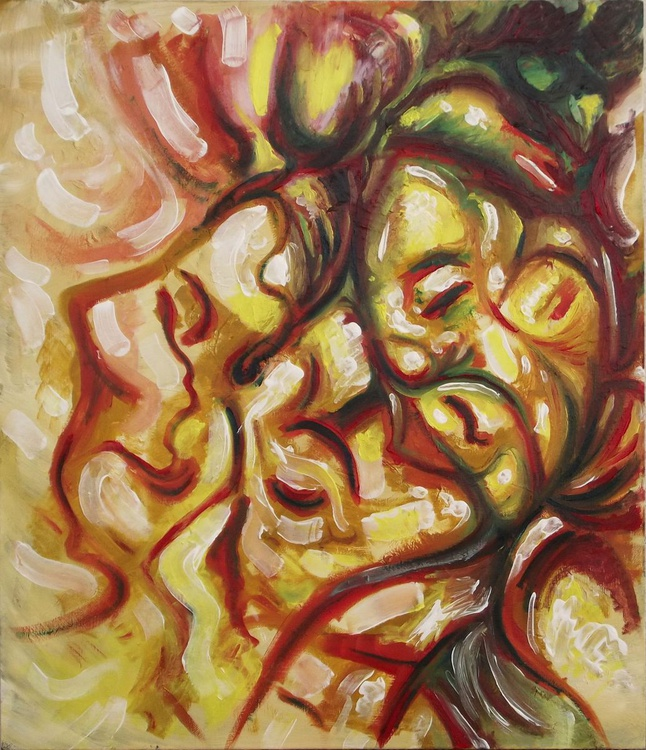 Illusionistic figure - Face combination #10 - LOVE SPIRIT - Image 0