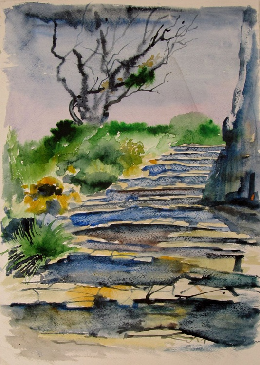 Landscape with the stairs - Image 0