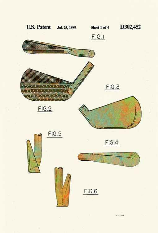 Golf Club Heads - Patented 1989 -