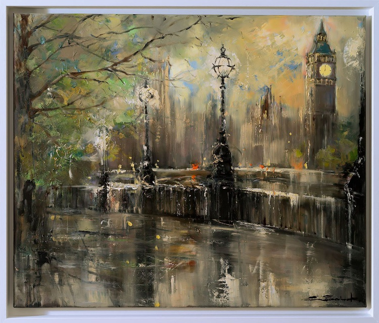 'Winter Evening at Westminster' - Image 0