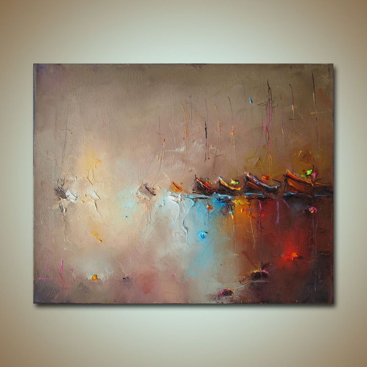 Sea shadows, Modern Seascape Oil Painting, Free shipping - Image 0