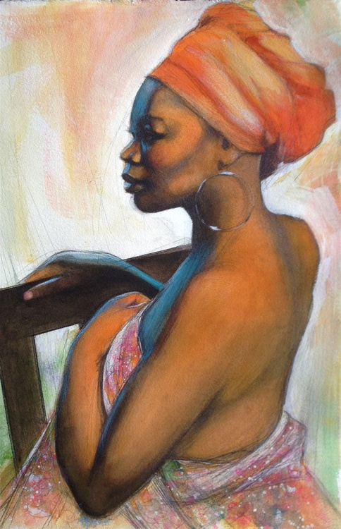 Profile of African American Woman - Image 0