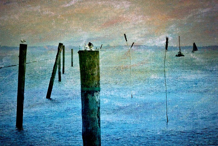 At the Sea - Canvas 75 x 50 cm - Image 0