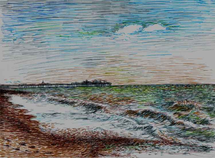 Brighton seas -