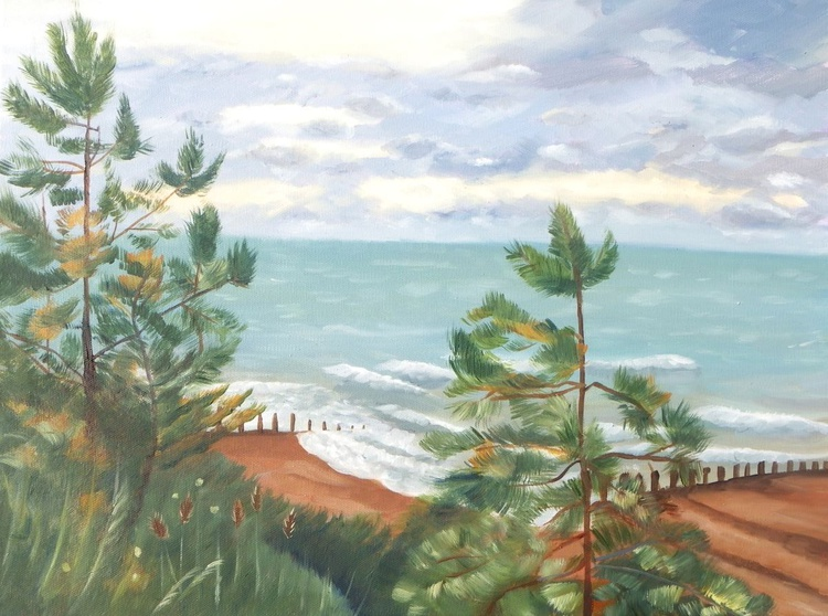 Pine trees by the sea - Image 0