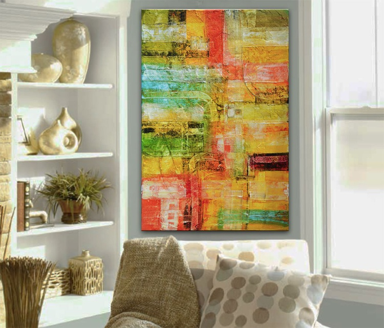 Abstract painting ready to hang - Visions of Earth Series - Image 0