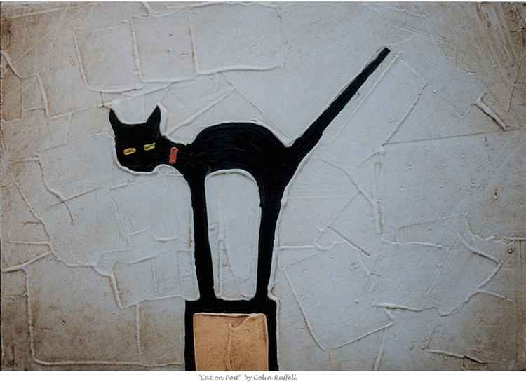 CAT ON POST -