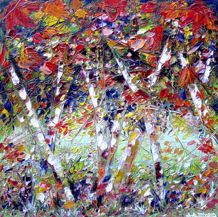 "Autumn art, Silver Birch - ""Silver Canopy"" - Image 0"
