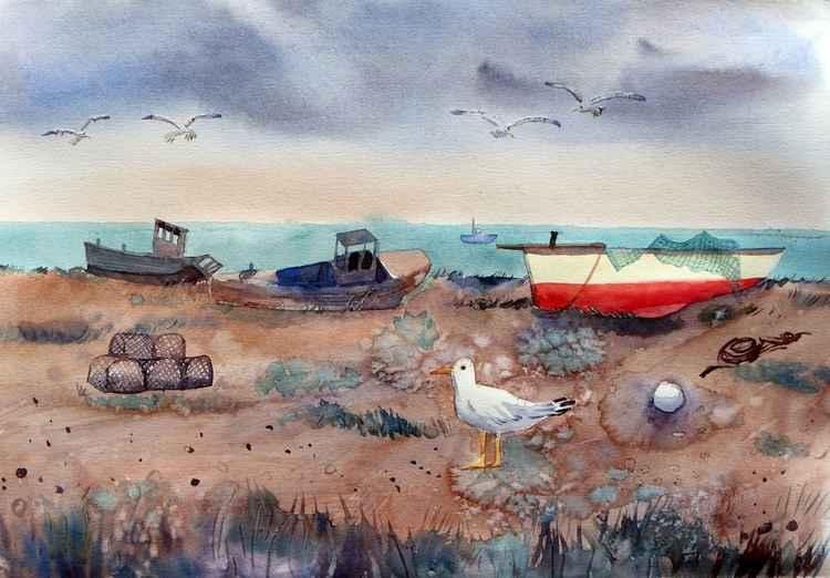 Fishing boats at Dungeness