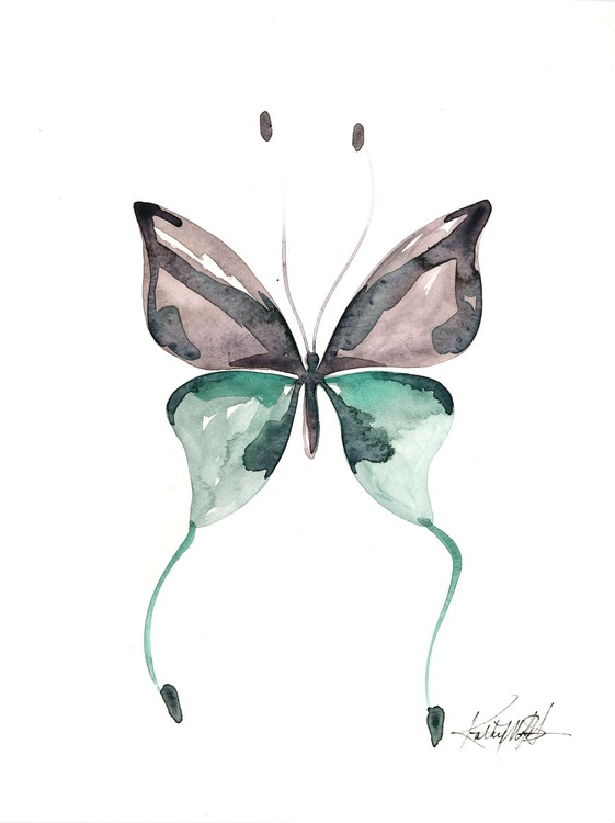 Watercolor Butterfly 12 - Abstract Butterfly Watercolor Painting - Image 0