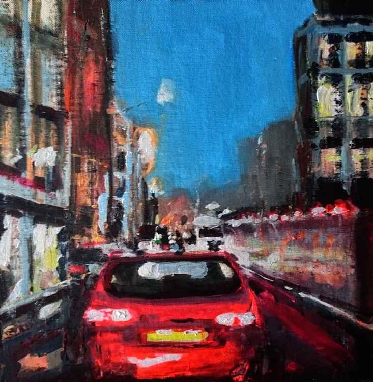 London City, Dusk Traffic