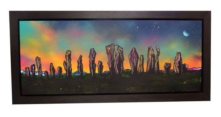 Callanish Standing Stones, Autumn Glow, Isle of Lewis, Hebrides, Scotland - original Scottish landscape painting - Image 0