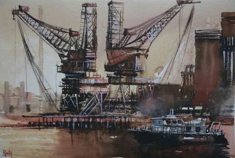 London cranes, Battersea Power Station -