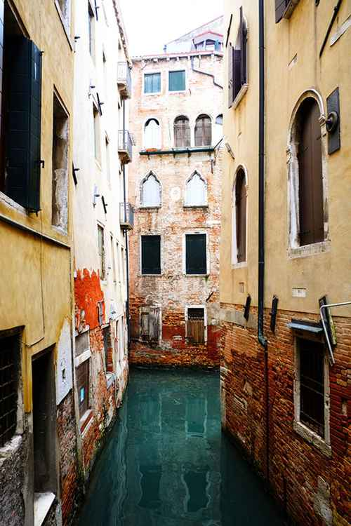 Venice Yellow Canal -