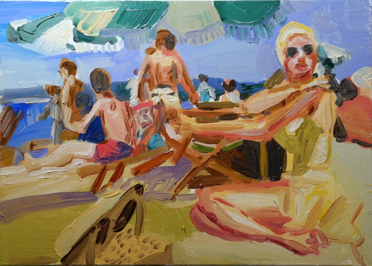 Beach Scene cannes 1955 - Image 0