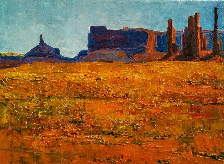 Small Paintings, Golden hour, Landscape - Image 0