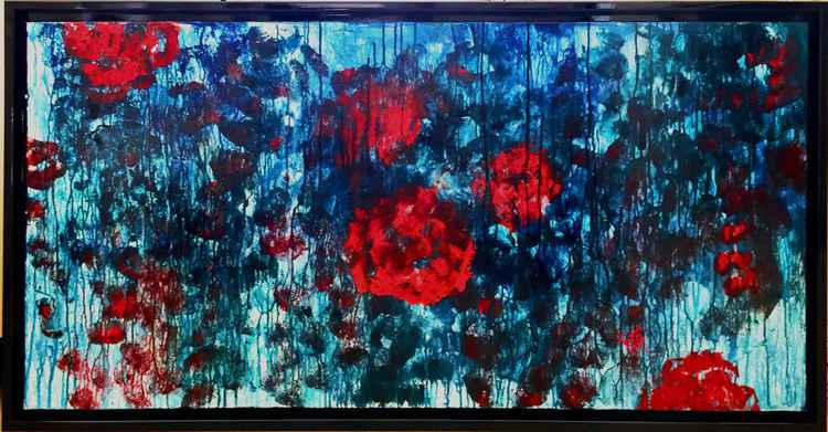RED and BLUE Abstract -