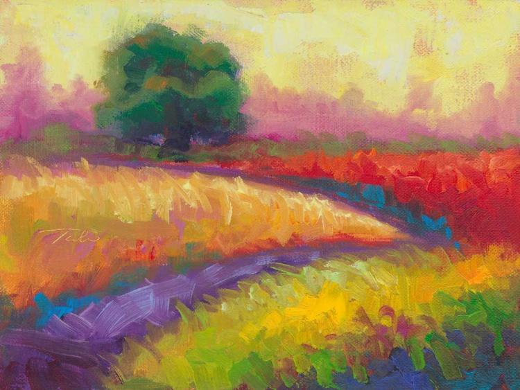 Kaleidoscope Fields - plein air colorful landscape - Image 0