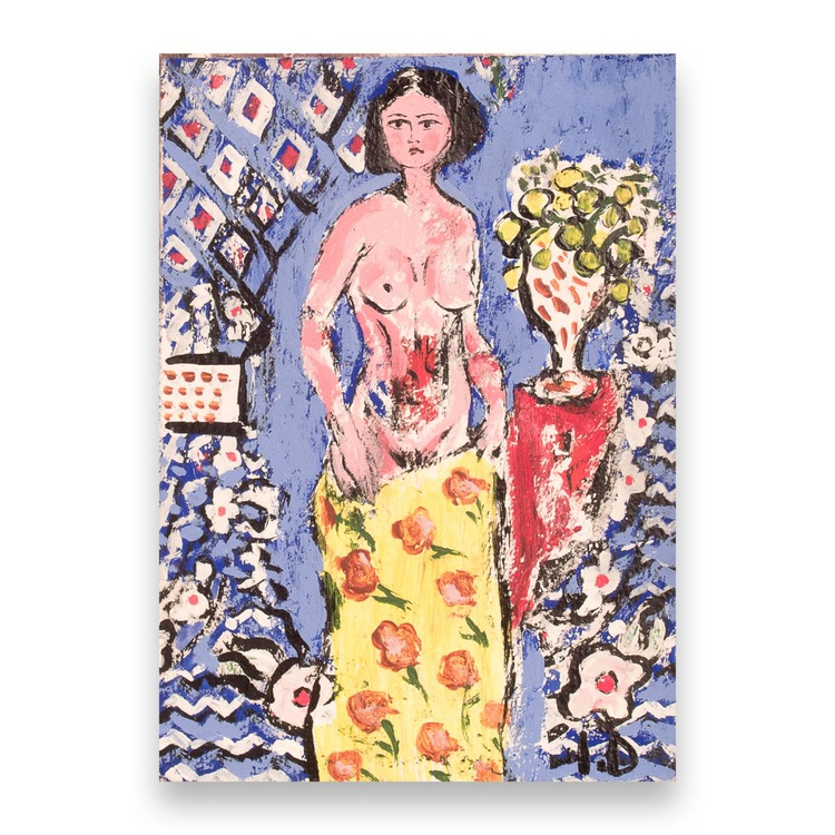 Woman with flower vase - Image 0
